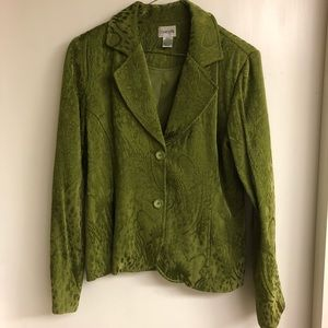Chico's green tapestry blazer jacket
